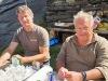 Gastgeber Robert Tschirky und Walter Rinderer