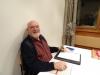 Unser Ehrenpräsident Hans Bürgi am Speakertisch