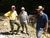 Exkursionsleiter Peter Stadelmann mit Armin Meyer und Reto Schachtler