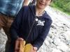 Yannis mit einem riesigen Senfbrot
