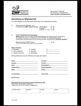 ZMF-Anmeldung Mitgliedschaft
